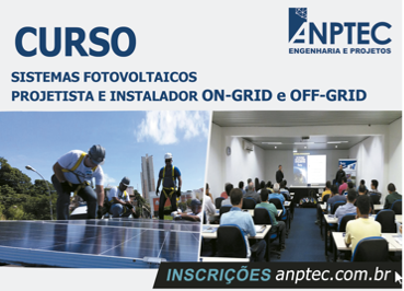 Curso Sistemas Fotovoltaicos – Projetista e Instalador ON-Grid e OFF-Grid – SALVADOR/BA